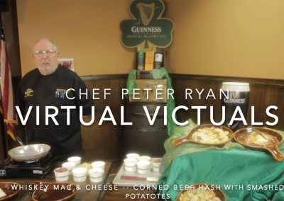 Irish Virtual Victuals: Chef Peter Ryan's Whiskey Mac and Cheese and Corned Beef with Smashed Potatoes